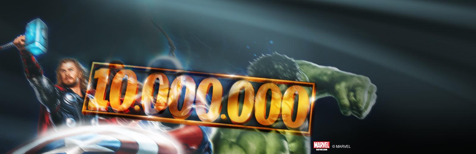 10 MILLIONS DE SPINS MARVEL